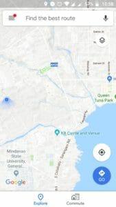 una sola mano en Google Maps