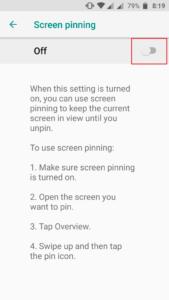 cómo realizar la fijación de la pantalla