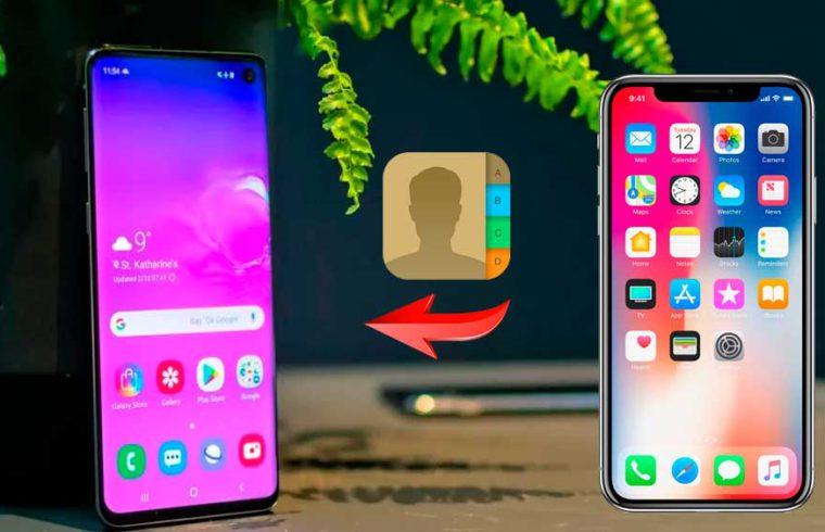 contactos de iPhone a Android