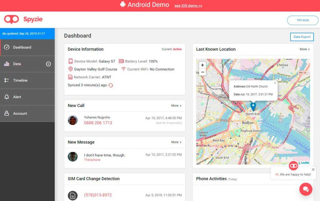 Spyzie es una aplicación espía para Android