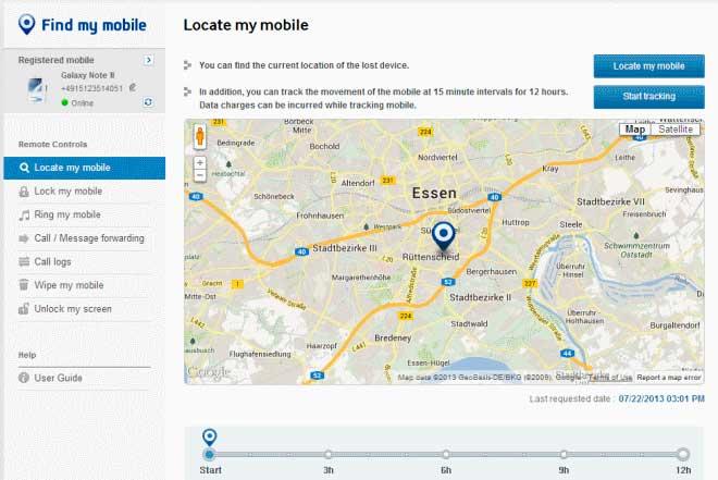 Find My Mobile' de Samsung