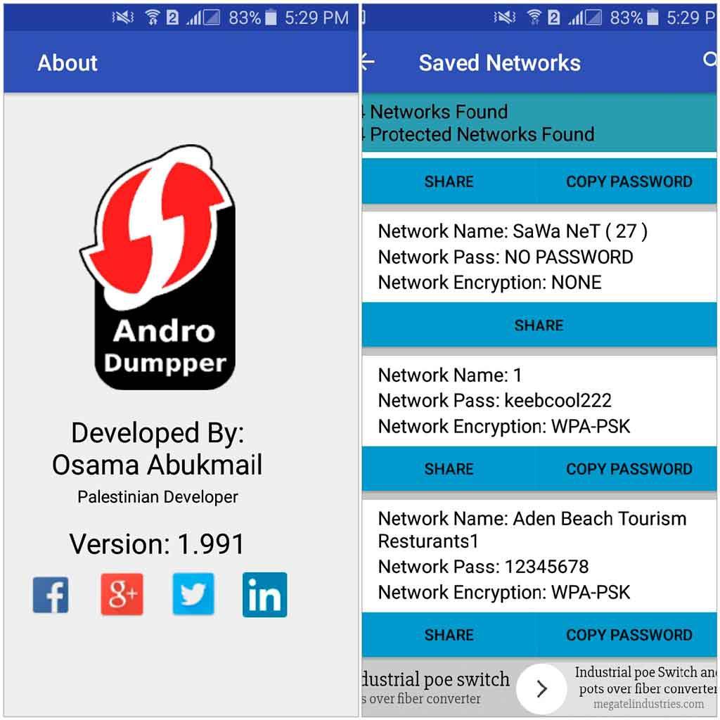 Grieta de AndroiDumper cada vez que cualquier red WiFi WPS entra en el rango de tu teléfono