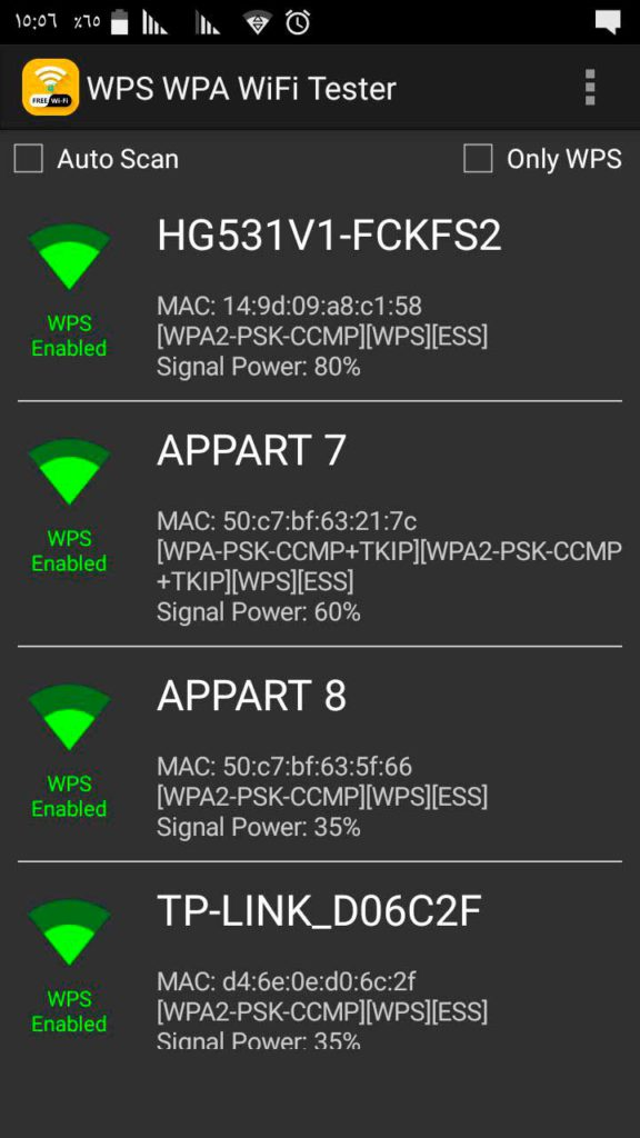 Hacking WiFi para Android Probador WiFi WPS WPA