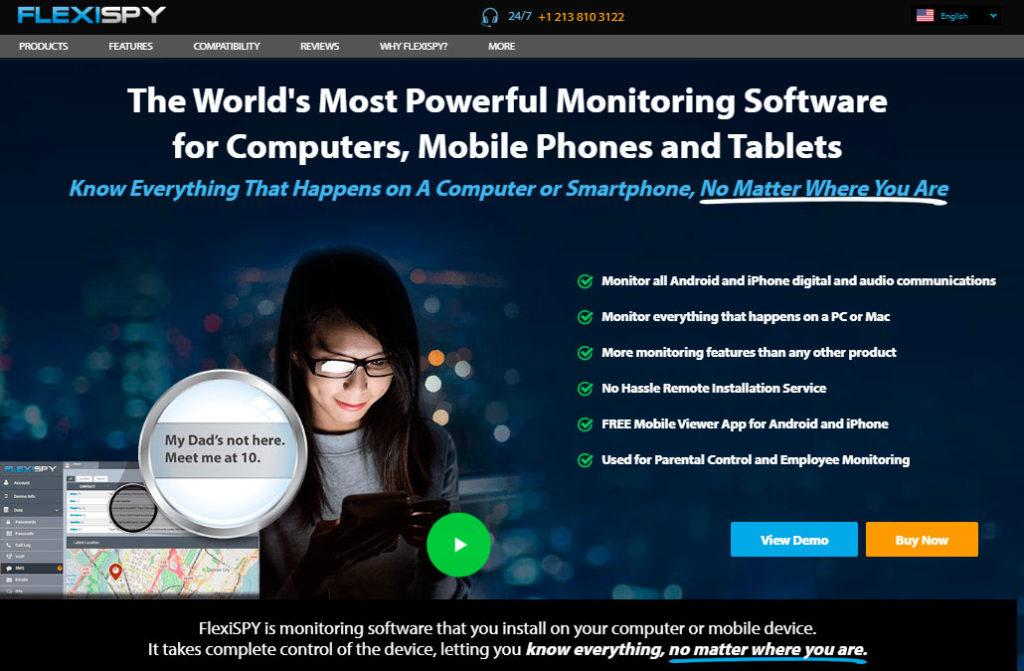 FlexiSPY es un software de monitorización fácil de usar