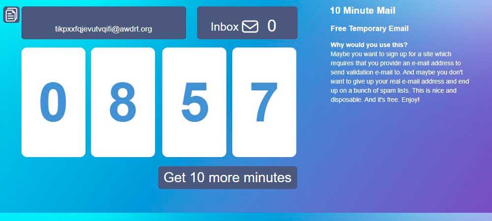 Correo de 10 minutos