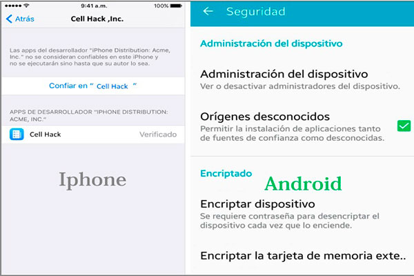 Cell Hack 5.0 espía