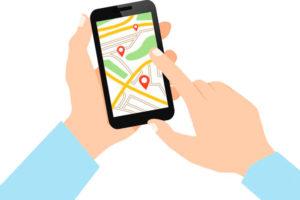 función de mapa de la aplicación